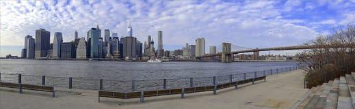 Panorama of Manhattan skyline, New York City Stock Photo