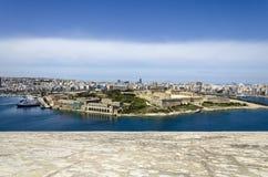 Panorama Manoel wyspa z Sliema, Malta obrazy royalty free