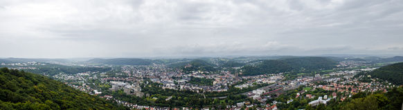 Panorama Marburg. Marburg and surroundings Royalty Free Stock Image