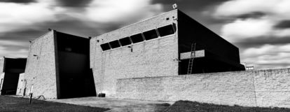 Panorama of Marcel Breuer designed modernist style factory, Australia. The former Torin building is of State heritage significance as a rare and intact example stock photo