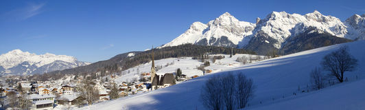 Panorama of Maria Alm Stock Images