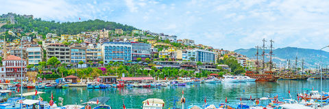 Panorama of marina in Alanya Stock Photo
