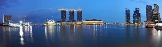 Panorama Of Marina Bay Sands,Singapore stock image