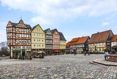 Panorama-Markt Hessenpark, ein Freilichtmuseum mit altem hal Lizenzfreies Stockfoto
