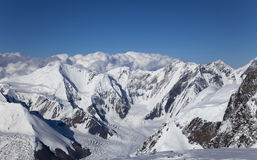 Panorama of Marmorwand peak, Tian Shan mountains Royalty Free Stock Photo
