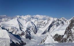 Panorama Marmorwand szczyt, Tian shanu góry Zdjęcie Royalty Free