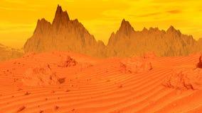 Panorama of Mars stock video footage