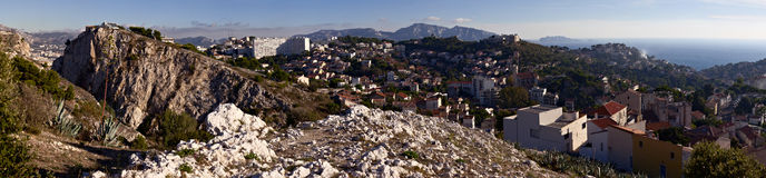 Panorama of Marseille, France. 