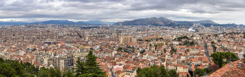Panorama of Marseille from Notre-Dame de la Garde Stock Photo
