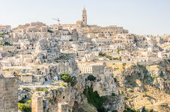 Panorama of Matera rocks Royalty Free Stock Photography