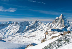 Panorama of the Matterhorn Glacier Royalty Free Stock Photo