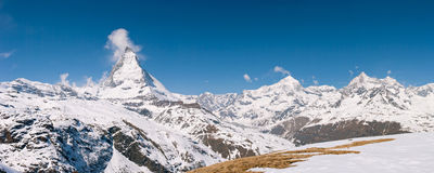 Panorama Matterhorn Switzerland Stock Image