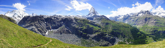 Panorama of Matterhorn, Switzerland Stock Photography