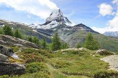 Panorama of Matterhorn, Switzerland. Royalty Free Stock Photo