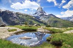 Panorama of Matterhorn, Switzerland. Stock Photography