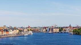 Panorama med stan Gamla Royaltyfri Bild