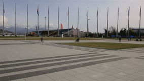 Panorama of Medal Plaza in Olympic Park stock video footage