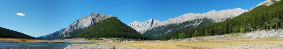 Panorama of medicine lake Royalty Free Stock Photography