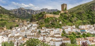 Panorama of the medieval castle above Cazorla village. In Spain Stock Image