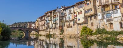 Panorama of medieval city Valderrobres in Aragon. Spain Stock Photos