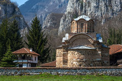 Panorama of medieval Poganovo Monastery of St. John the Theologian Stock Image