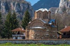 Panorama of medieval Poganovo Monastery of St. John the Theologian. Serbia Royalty Free Stock Photos