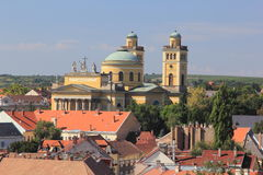 Panorama the medieval town of Eger.Hungary Royalty Free Stock Photography