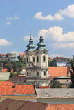 Panorama the medieval town of Eger.Hungary Royalty Free Stock Photos