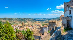 Panorama of a medieval village in Tuscany royalty free stock image
