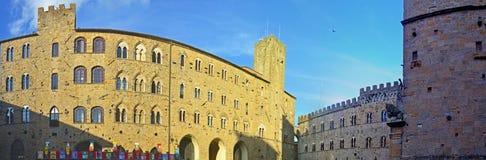 Panorama medioevale della Toscana Fotografia Stock Libera da Diritti
