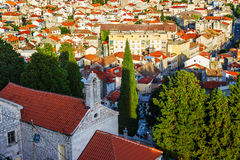 Panorama of the mediterranean city of Sibenik. Croatia Stock Images