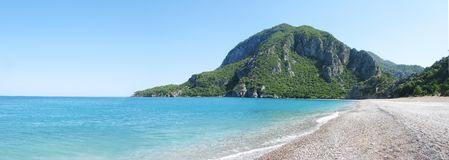 Panorama of mediterranean sea landscape Stock Image