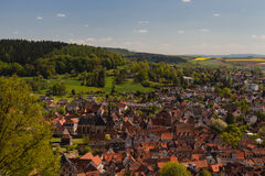 Panorama of the medival city of Buedingen Royalty Free Stock Photography