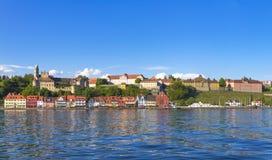 Panorama Meersburg vid sjön Constance Royaltyfria Foton