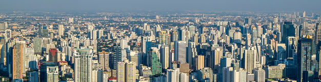 Panorama megapolis Bangkok city Stock Photo