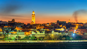 Panorama of Meknes in the evening - Morocco Stock Photography