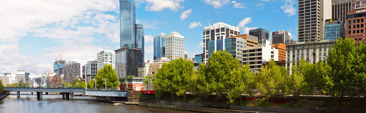 Panorama of Melbourne Stock Images