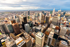 Panorama of Melbourne's city center from a high point. Australia. Stock Image