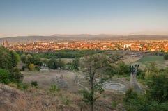 Panorama - Memorial Park Hisar dans Leskovac Photo stock