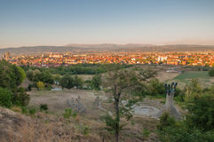 Panorama - Memorial Park Hisar in Leskovac Stock Foto
