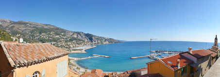 The harbour of menton Stock Image