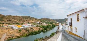 Panorama in Mertola, Beja-District, Portugal stock afbeelding