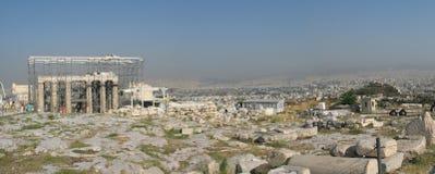 Panorama met akropolis Stock Afbeeldingen