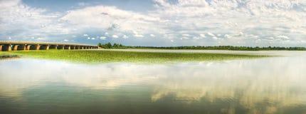 Panorama met brug royalty-vrije stock foto