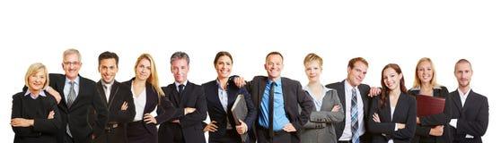 Panorama met commercieel team en bedrijfsmensen royalty-vrije stock foto's