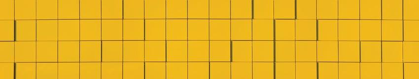 Panorama metallico giallo della priorità bassa del comitato della facciata Immagini Stock Libere da Diritti