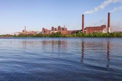 Panorama of metallurgical works Stock Photos