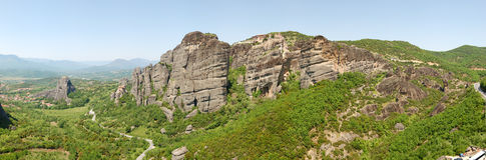 The panorama of Meteora Royalty Free Stock Image