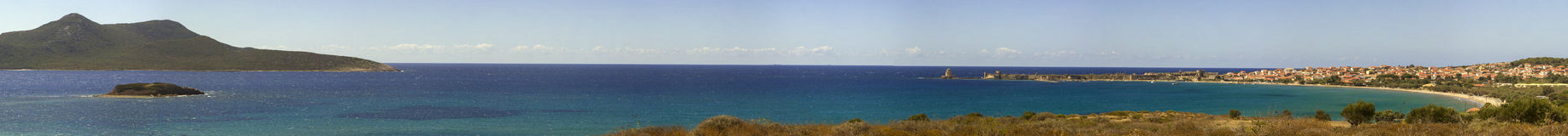 Panorama of Methoni in Messinia, Peloponnes Royalty Free Stock Photography
