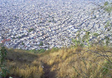 Panorama of a metropolis favelas in a hot day Stock Image